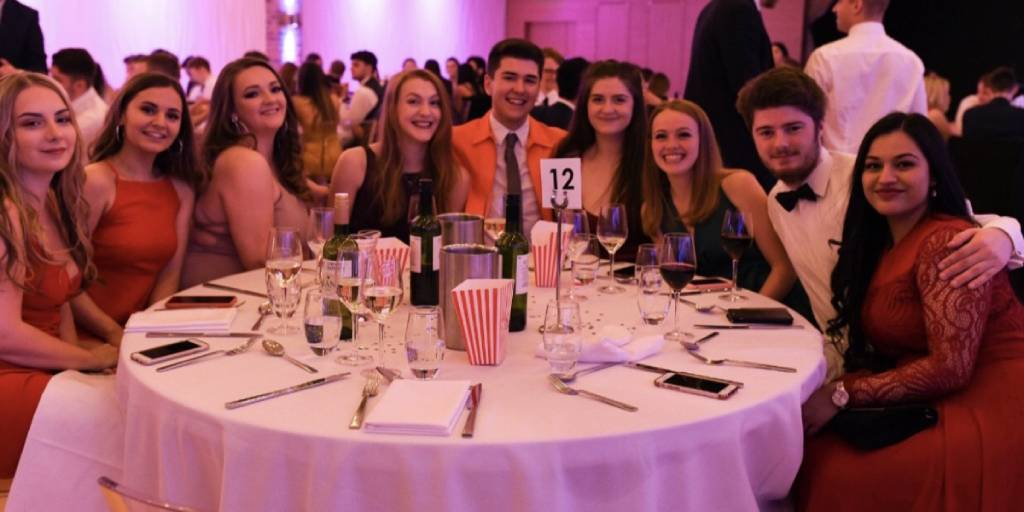 Newcastle Uni student Lauren J celebrating with friends